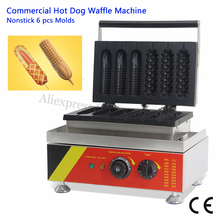Nonstick Lolly Waffle Baker Maker 3 Hotdog Waffle + 3 Corn Hot Dog Waffle Machine Electirc Fast Food Machine 220V 110V 528 220v 110v 4 pcs lolly waffle maker waffle stick lolly waffle making machine electrical pine waffle maker