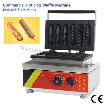 Nonstick Lolly Waffle Baker Maker 3 Hotdog Waffle + 3 Corn Hot Dog Waffle Machine Electirc Fast Food Machine 220V 110V 528
