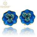 New earings fashion jewelry Rhinestone earrings lovely flower earring femme lovely round oorbellen for women stud earrings