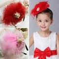 Crianças Acessórios Para o Cabelo Penas Rendas Strass Pérola Do Bebê Headband Crianças Acessórios Do Casamento Do Partido Do Cabelo da Cabeça Da Menina de Flor