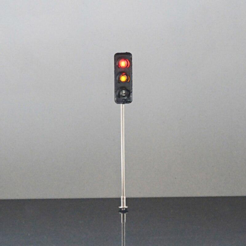 HO Model 3-light Traffic Lights Model 3v Street Train Railway Scenery