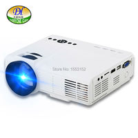 DH MiniQQ New Arrival Mini Portable Projector LED LCD Manual Focus Lens Projector Build In Speaker