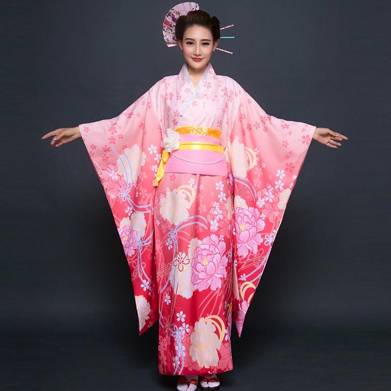 Japanese Dressing Gown: 2017 Winter Traditional Japanese Kimonos Japanese Silk