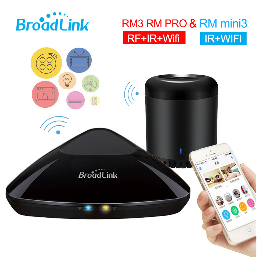 Broadlink RM3 RM PRO RM MINI3 Wifi Controller,Smart Home Automation System Wireless Remote Controller by Smartphone,WIFI+IR+RF