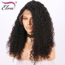 Elva hair 13×6 Lace Front Human Hair Wigs For Black Women 150% Density Brazilian Remy Hair Curly Wigs Pre Plucked With Baby Hair