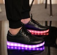 LED children shoes USB charging persistent colorful light kids boys girls shoes big size kids light up shoes