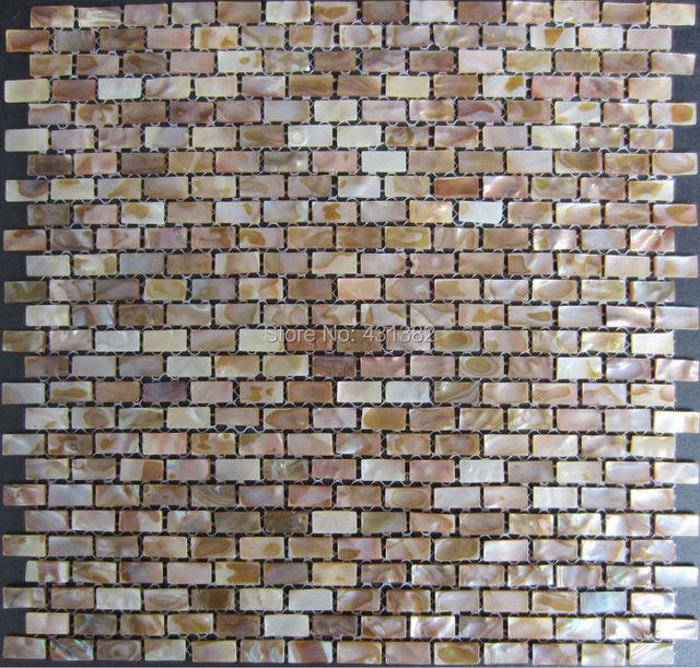 40 STÜCKE Natürliche Shell Mosaik Fliesen 10x20x2 MM; Perlmutt Fliesen;  Küche Backsplash Fliesen;