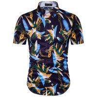 Mens Hawaiian Shirt Floral Shirt Men Gentleman's Fancy Plus Size Camisa Casual Masculina Casual Short Sleeve Shirt