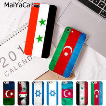 MaiYaCa For iPhone XS MAX 7 8 Plus azerbaijan syria israel flag Transparent Phone Case for Apple iPhone 8 7 6 6S Plus X 5S SE XR(China)