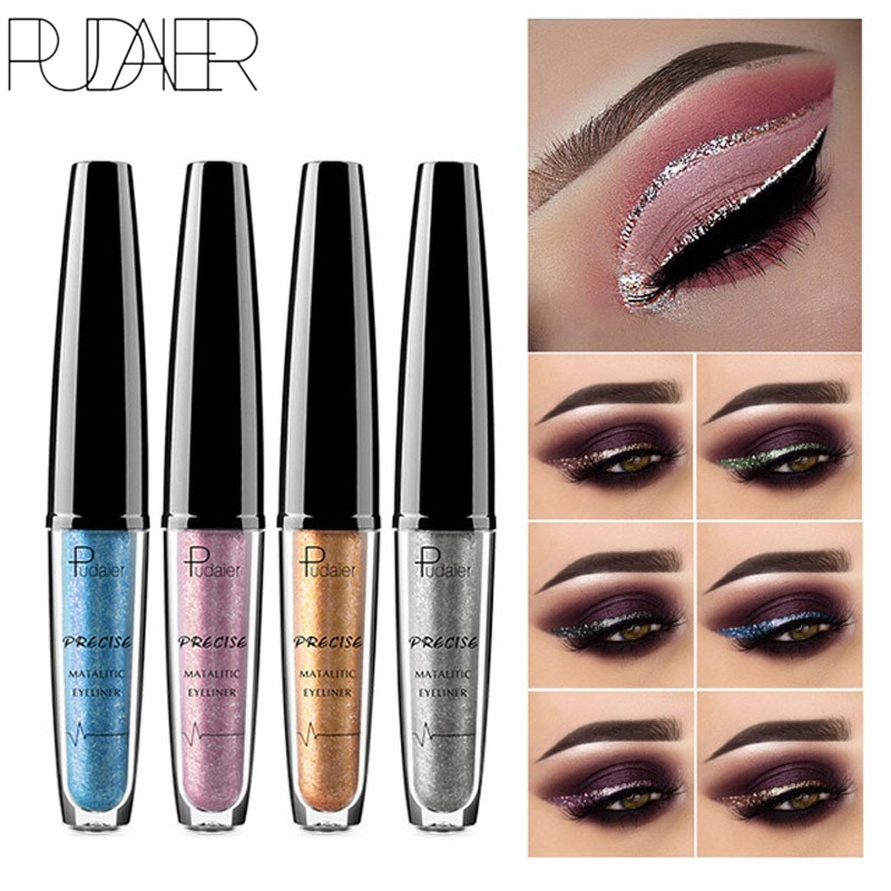 Beauty Essentials Silver Gold Color Liquid Glitter Eyeliner Pencils Waterproof Cosmetics Shiny Eye Liners Gel Profissional Makeup Back To Search Resultsbeauty & Health