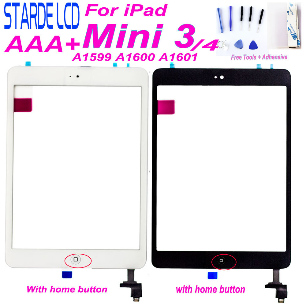 For iPad mini 3 mini3 A1599 A1600 A1601 Touch for Ipad mini 4 mini4 A1538 A1550 Touch Screen Digitizer Home Button Free Tools