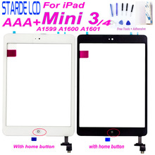 For iPad mini 3 mini3 A1599 A1600 A1601 Touch for Ipad mini 4 mini4 A1538 A1550 Touch Screen Digitizer Home Button Free Tools 10pcs dhl free checked for ipad mini 3 mini3 a1599 a1600 lcd screen digitizer panel assembly replacement part