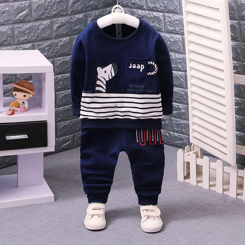 Cartoon Cute Boys Clothes Spring Autumn Casual Kids Clothes for Boys Long Sleeve Shirts Pants Children Clothing Set Size 1 2 3 4 ...
