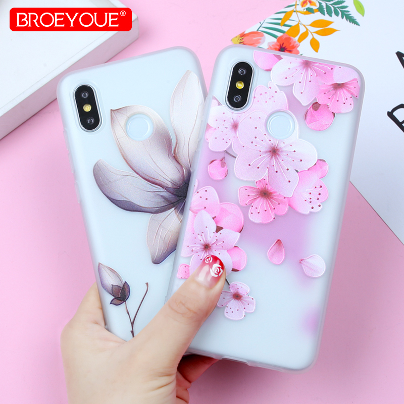 Flowers Case For <font><b>Xiaomi</b></font> Pocophone F1 Case <font><b>Redmi</b></font> 6 <font><b>Pro</b></font> <font><b>Note</b></font> 4X <font><b>Redmi</b></font> 4X 4A <font><b>Note</b></font> 5A Cases For <font><b>Xiaomi</b></font> 5X Mi A1 Mi 8 <font><b>SE</b></font> Relief Cover image