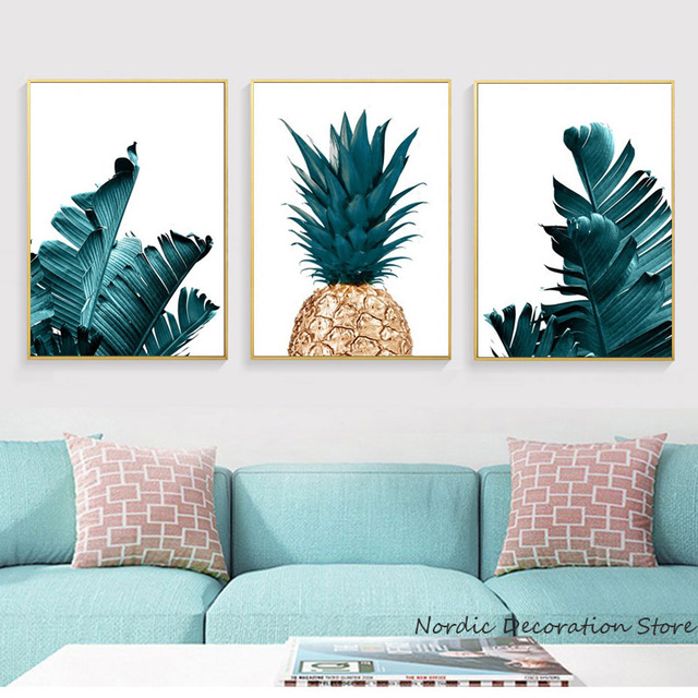 Nordic Pineapple Painting Wall Posters Cuadros Decoracion Posters ...