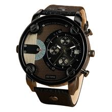 лучшая цена Relogio Masculino 2018 NEW Luxury Brand Men Sport Watches Fashion Men Faux Leather Strap Casual Quartz Wrist Watch Clock Gift