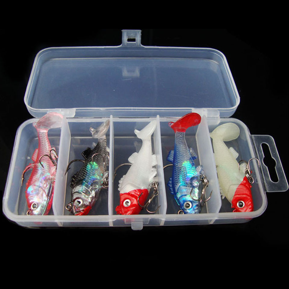 5PCS/Lot Fishing Lure Peche Carp Fishing Tackle Soft Silicone Bait Fishy Attractant Pesca Topwater Soft Lure ...