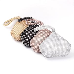 Image 5 - Bolso de noche con cuentas suaves para mujer, 4 colores, estilo abierto, para boda, bolso de mano con brillo, para regalo de Año Nuevo