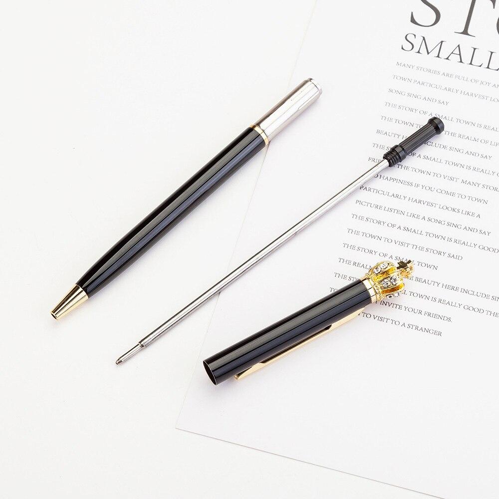 Creative 1 0 mm Cute Kawaii Diamond Golden Crown Ball Ballpoint Pens Ballpen For Office School Writing Supplies Stationery in Ballpoint Pens from Office School Supplies