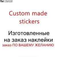 Tri mishki Custom made car stickers vinyl or PVC decal car auto stickers car bumper/rear window car decoration