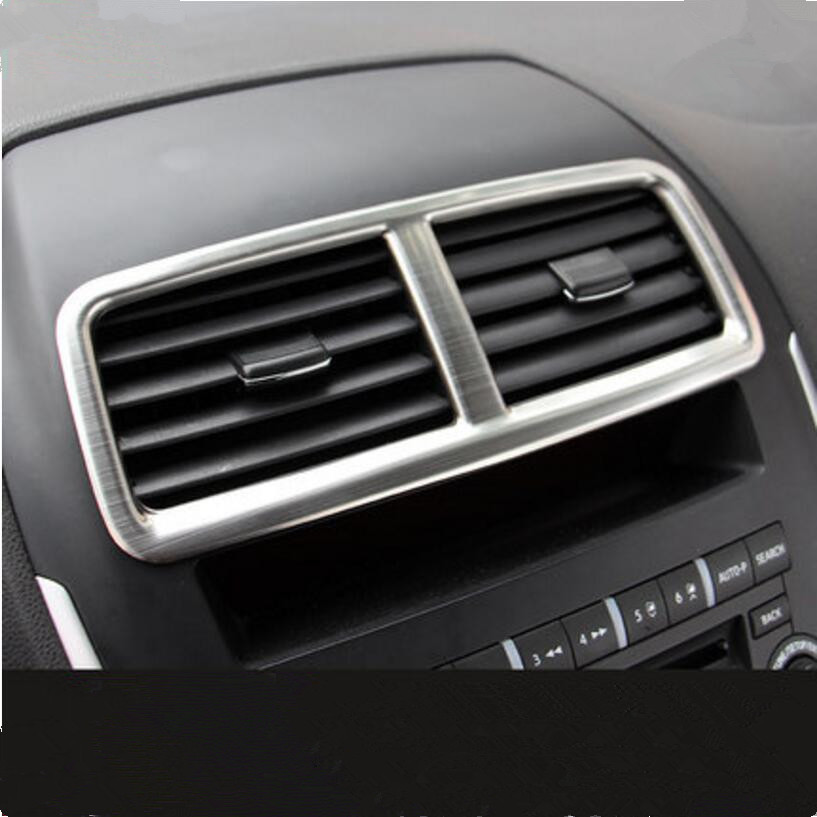 CAR STYLING STAINLESS STEEL DASH AIR VENT COVER TRIM DECORATION STICKER CASE FOR MITSUBISHI ASX OUTLANDER SPORT RVR 2013-2017 2016 car styling stainless steel handbrake sequined internal decoration for mitsubishi asx 2015