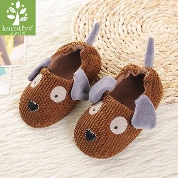 Kocotree עכבר בעלי החיים דפוס ילדים כפכפים ילדים עבור בנות בית מקורה נעלי שינה החורף חם תינוק דירות