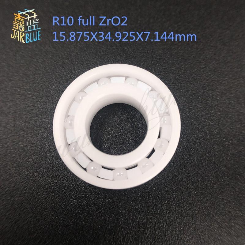 Free shipping high quality R10 full ZrO2 ceramic deep groove ball bearing 15.875X34.925X7.144mm free shipping high quality mr115 full zro2 ceramic deep groove ball bearing 5x11x4mm