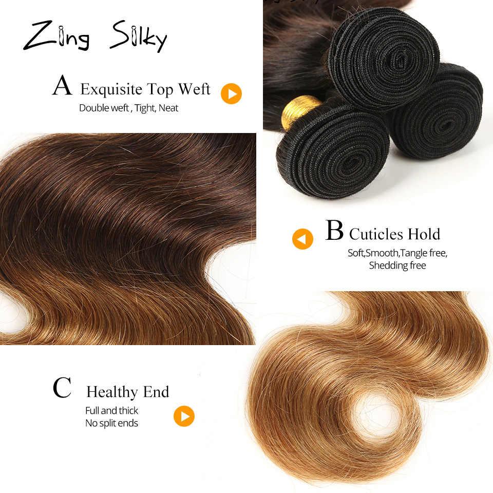 Бразильские человеческие волосы пучки с закрытием Платина блонд шиньон волосы для наращивания тела волна Омбре добавить волосы Remy шелковистые поставщики волос