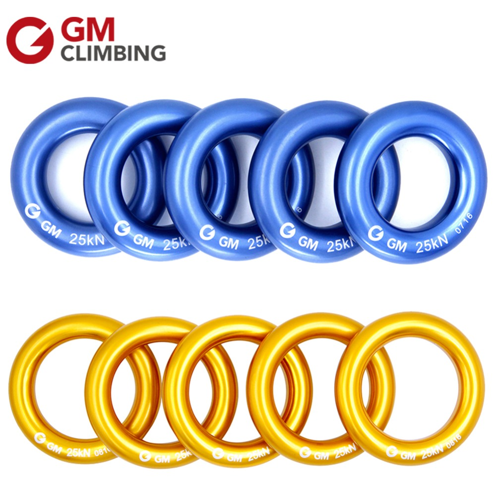 GM Climbing Rappel Ring for Hammocks Aluminum Descender Rings 25kN / 5600lbs O Ring for Rescue Rock Climbing Caving 10pcs aluminum anti panic self braking stop descender rock climbing mountaineering rescue safety belay device
