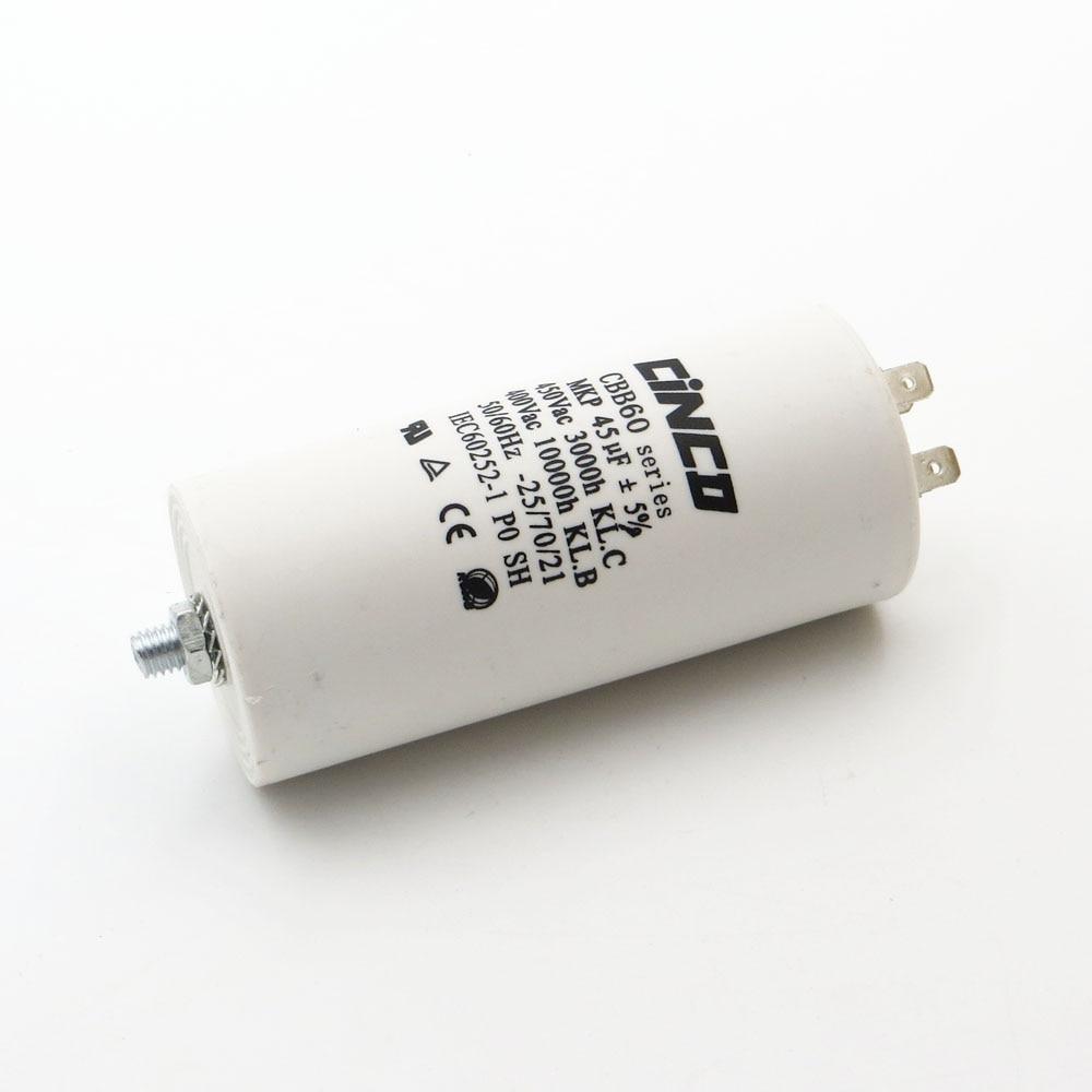 CBB60 Motor Run Capacitors 45uF 400V 450V 4pins SH DB Polypropylene Film Ac 450VAC Water Pump electrical engine 45mfd 45mf цена