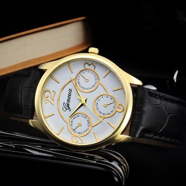Classic Watch Men Top Brand Luxury Men Watch Leather Clock  4