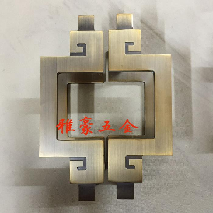 The spot of Chinese antique door handle shaped semicircular frameless glass door handle wooden European door handle european modern bronze doors handle chinese antique glass door handle door handle carving