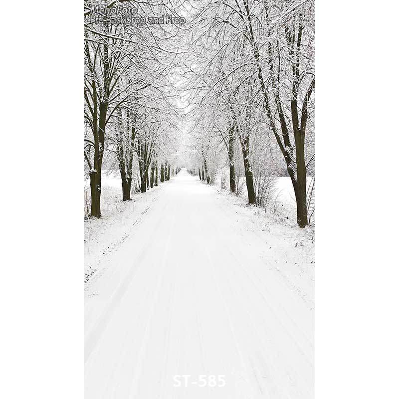 Snow-covered landscape Photography Backdrops Vinyl Background Computed Printed Christmas Photo Background for Photo Studio ST585 winter snow christmas village vinyl photography backdrops 12x6ft vinyl cloth children photo studio background for sale l 896