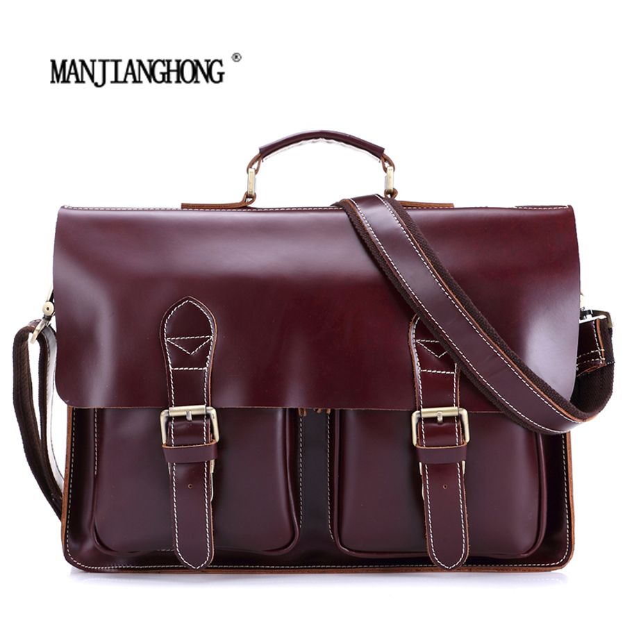 2016 New Fashion Genuine Leather Bag Men Famous Brand Shoulder Bag Messenger Bags Fashion Men's Travel Bags Free Shipping MS8037 free shipping dbaihuk golf clothing bags shoes bag double shoulder men s golf apparel bag