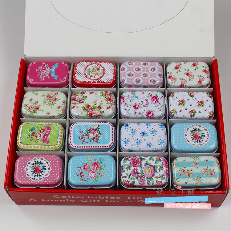 Vintage Decoration Tin-Box Storage-House Candy Mini Cartoon Collectables Display 32pcs/Lot