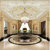 Customized European Wallpaper Jewelery Pattern Marble Mural For Living Room Bedroom Hotel Bar Ceiling Background Wallpaper