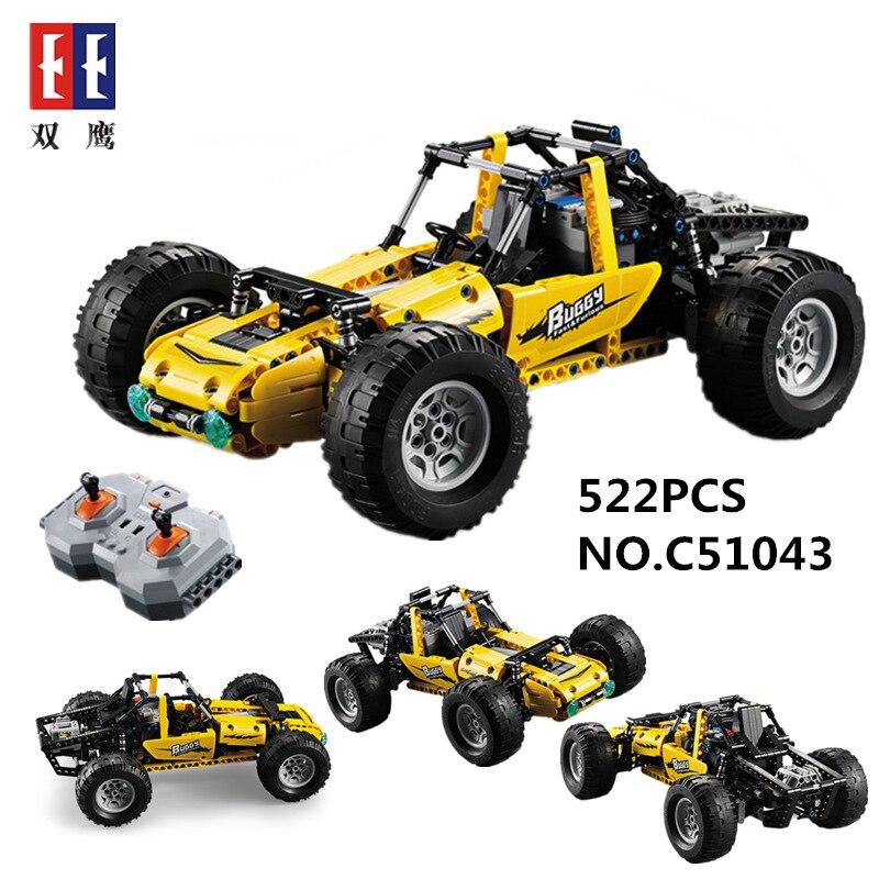 DOUBLE E Véhicule RC Course Buggy Voiture 522 pcs Technique Blocs de Construction Jouets Passe-Temps Compatible Legoings 8296 8475 42037 Enfants meilleur Cadeau