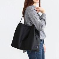 솔리드 나일론 숄더 가방 환경 쇼핑 가방 토트 패키지 crossbody 가방 지갑 여성을위한 캐주얼 핸드백