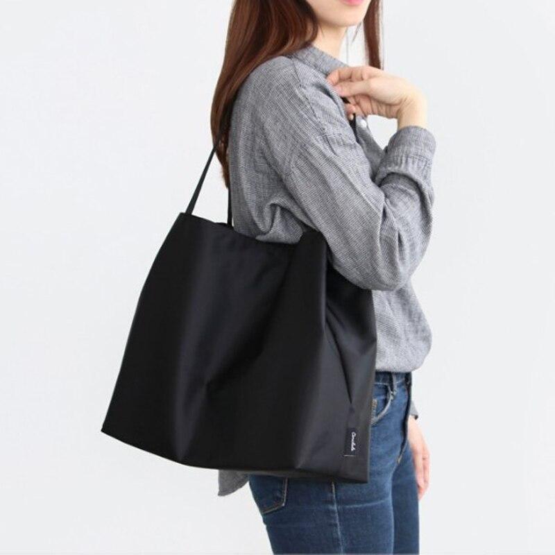 Sacs à bandoulière en Nylon solide sac à provisions environnemental sac fourre-tout sacs à bandoulière sacs à main sac à main décontracté pour les femmes