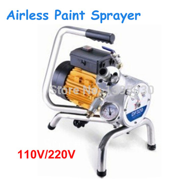 Electric Paint Gun   Electric Airless Paint Sprayer 110V/220V 750W Handheld Sparying Gun With English Manual DF320A