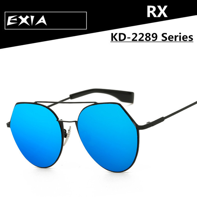 13016760a18 Women Sunglasses Optical Lenses Mirror Coated UV400 Prescription Single  Vision Brand EXIA OPTICAL KD-2289 Series