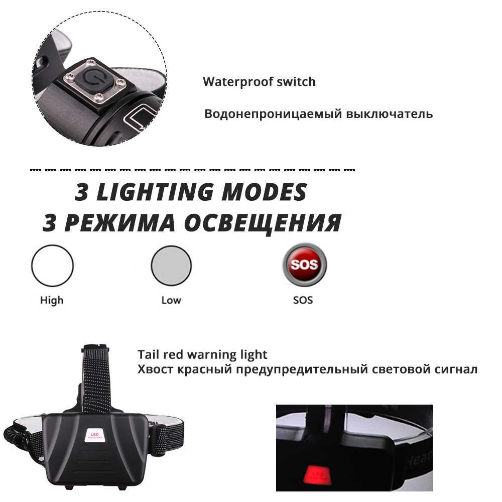 Leistungsstarke XHP70 LED Wasserdichte Scheinwerfer Scheinwerfer Unterstützung zoom 3 schalter modi Angetrieben durch 3x18650 batterien für jagd, angeln