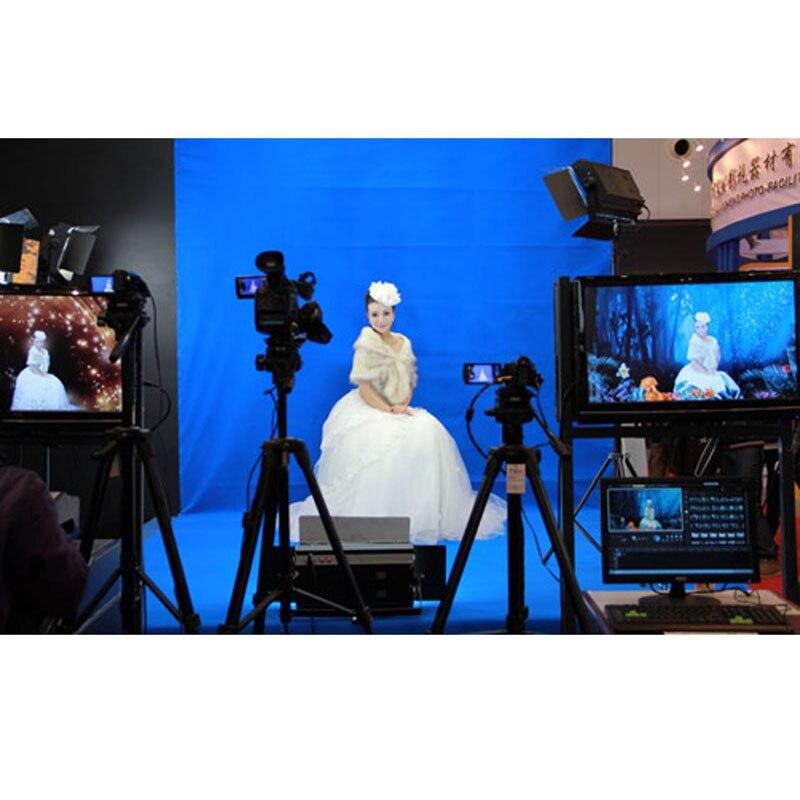 DAWNKNOW mousseline écran coton photographie toile de fond bleu solide couleur fond éclairage PS découpe pour Photo studio Chromakey
