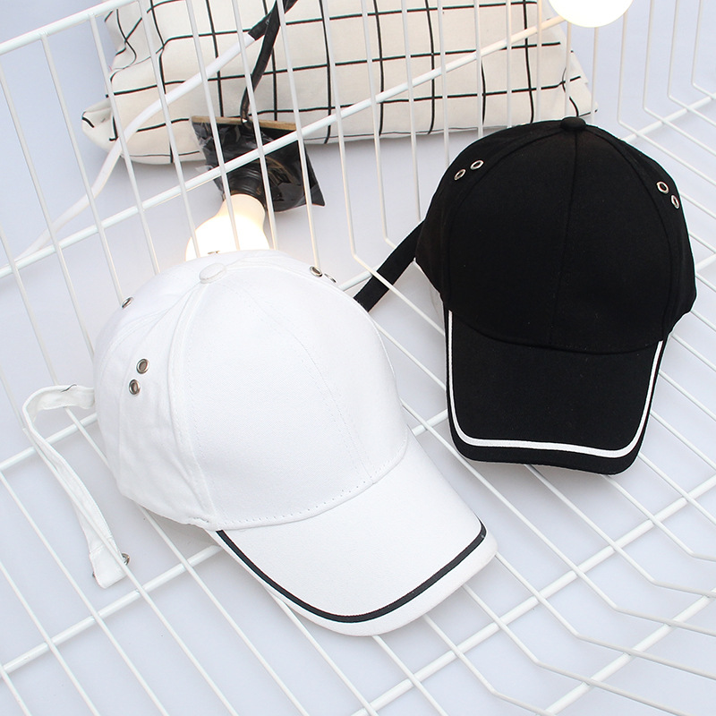 2019 New Fashion Long Belt Bent Baseball Hat Men And Women Korean Fashion Wild Embroidery Cap Outdoor Sun Hat Women Hat Cap