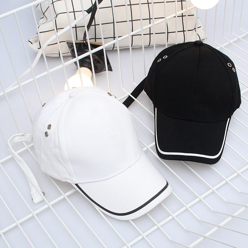 2019 New Fashion Long Belt Bent Baseball Hat Men And Women Korean Fashion Wild Embroidery Cap Outdoor Sun Hat Women Hat Cap