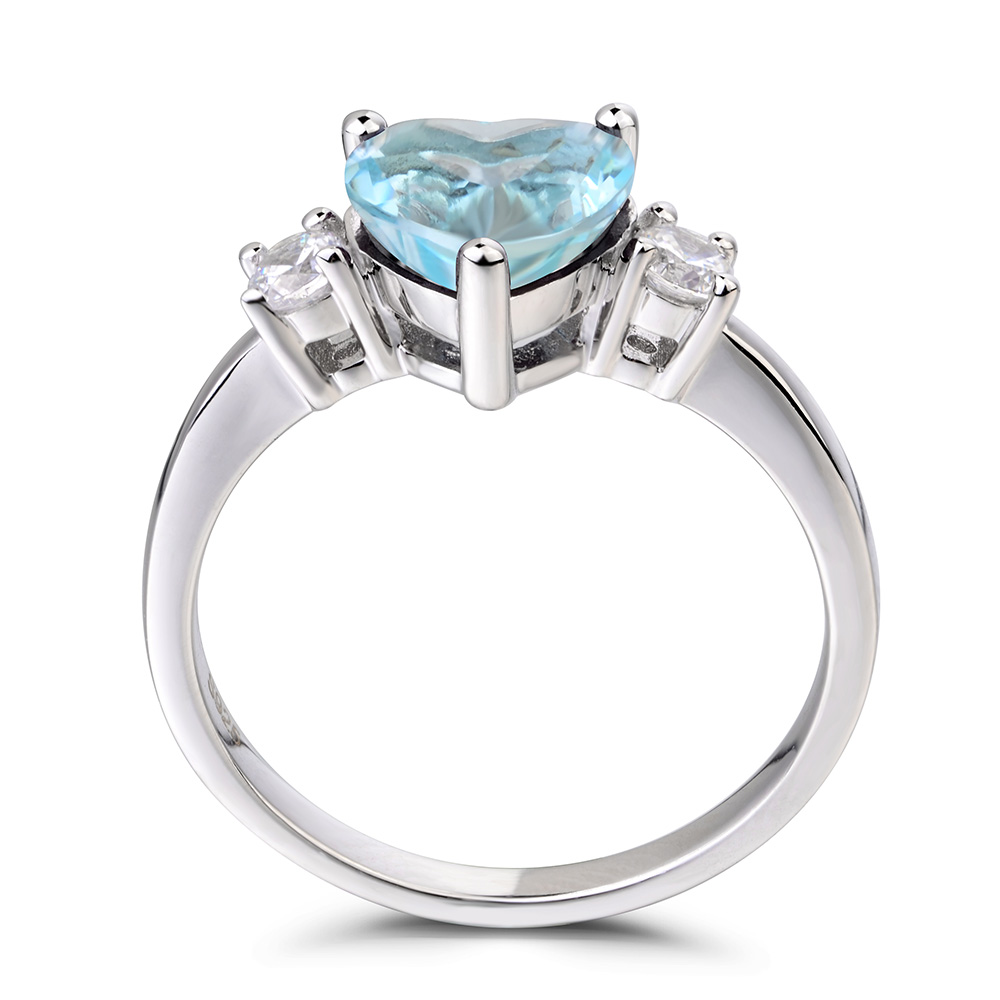 buy teal details ori stackable from march aquamarine chunky clear rings gemstone com etsy teardrop ring now
