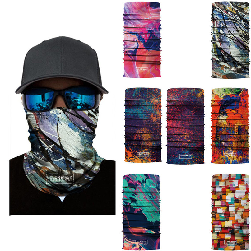 Printing Ski Cycling Snowboard Scarf Collar Neck Warmer Face Mask Bandana Bike Mask Fre Ski Balaclava Headband #3j#F