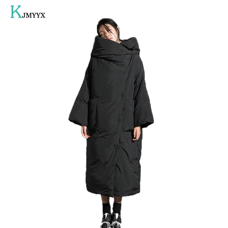 KJMYYX winter jacket women 2019 New Thicken Long Hooded   parka   women winter coat Warm Jacket Female Coats Overcoat