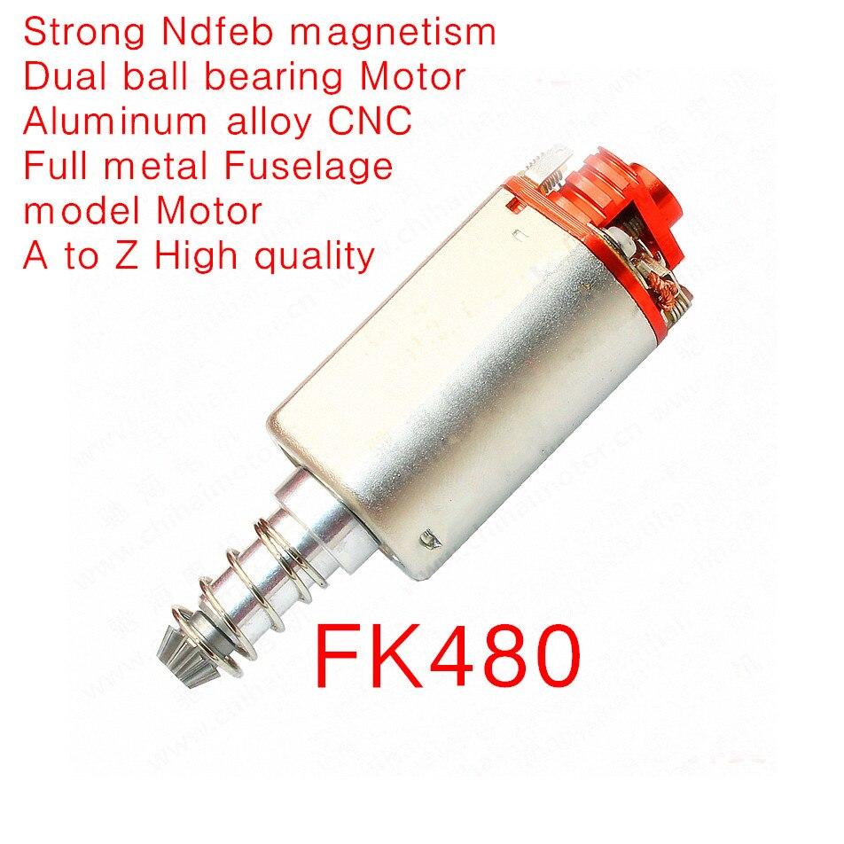 Fk480 Strong Magnetism Dual Ball Bearing Motor Aluminum