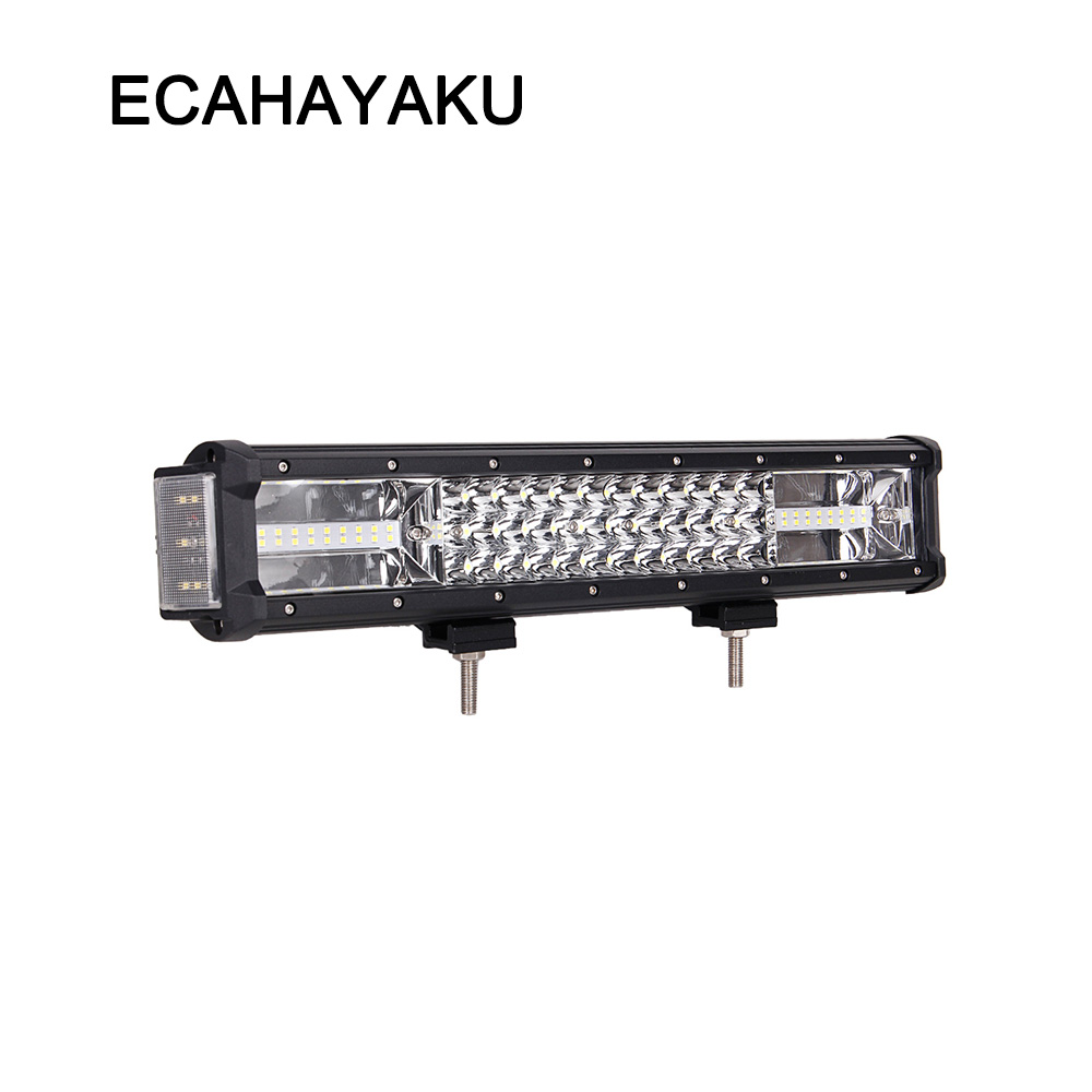 ECAHAYAKU <font><b>16</b></font> inch 232W <font><b>LED</b></font> <font><b>work</b></font> <font><b>light</b></font> bar with side <font><b>light</b></font> fog <font><b>lights</b></font> driving lamp offroad for jeep ATV truck SUV car combo beam image